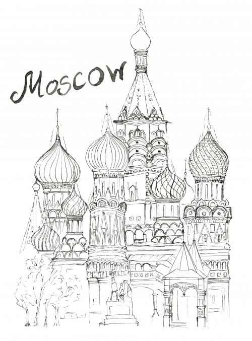 Moscow Coloring Page | Colorear, Dibujo y Imágenes para pintar