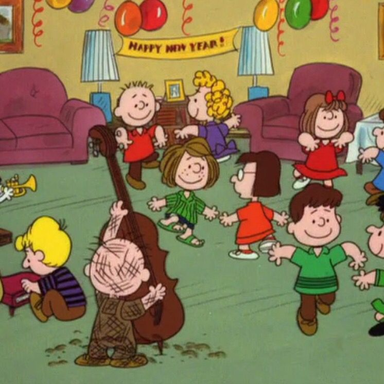 Happy New Year! Party with The Peanuts at Snoopy's house