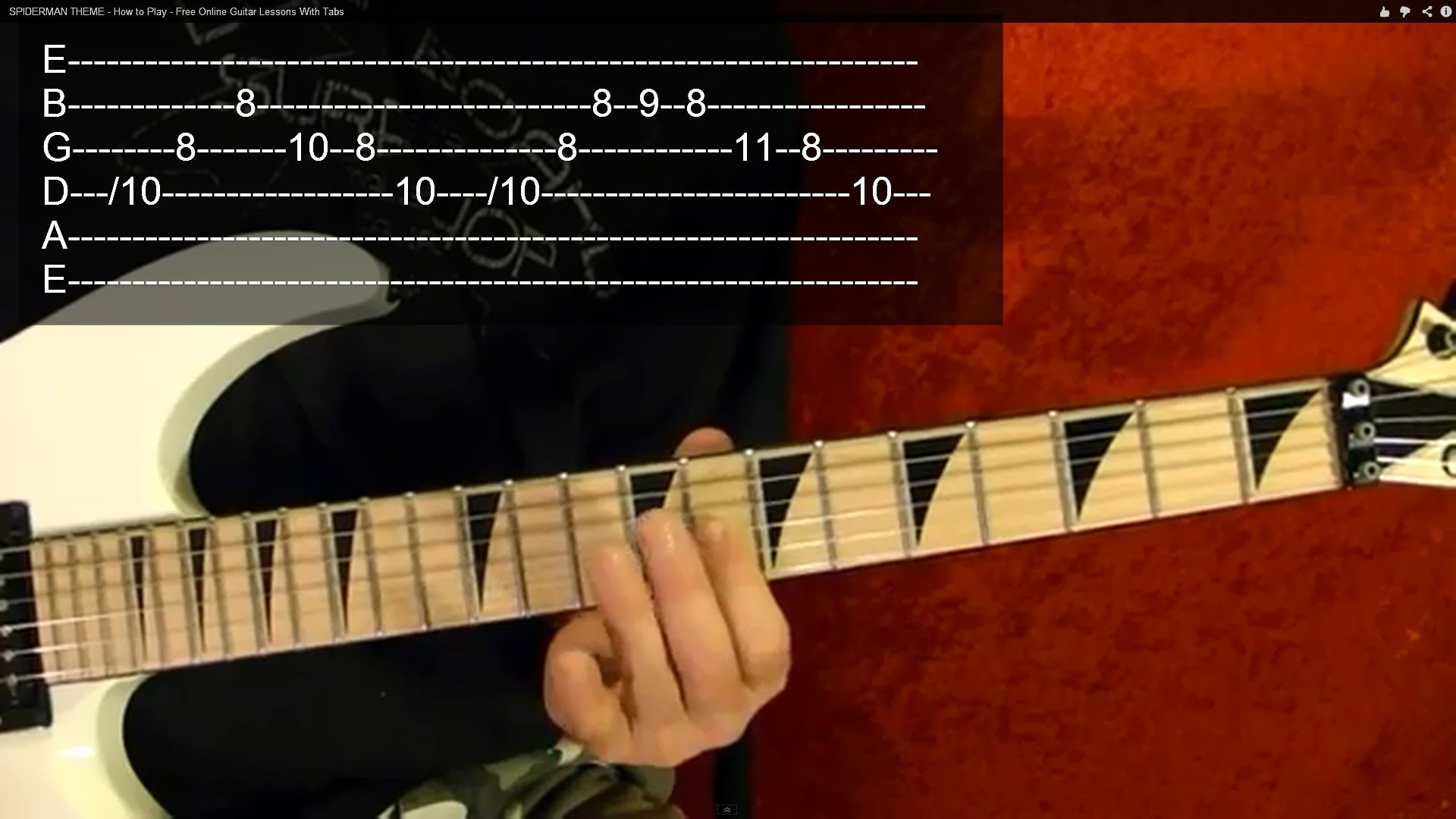 Darth Vaders Theme Imperial March Guitar Lesson Easy