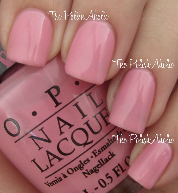 Opi I Think In Pink Is A Light Bubblegum Creme Used 3 Coats