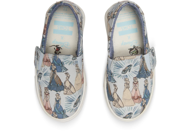 e95a22c18b0 Disney X TOMS Blue Cinderella Tiny TOMS Luca Slip-Ons