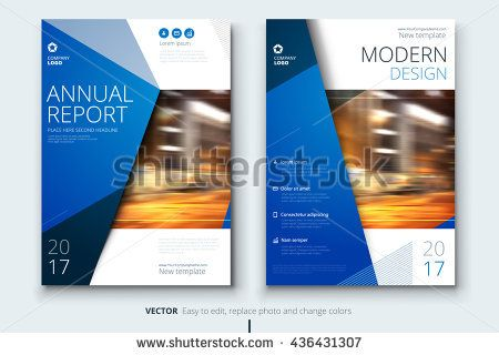 Blue Corporate business annual report cover, brochure or flyer - free annual report templates