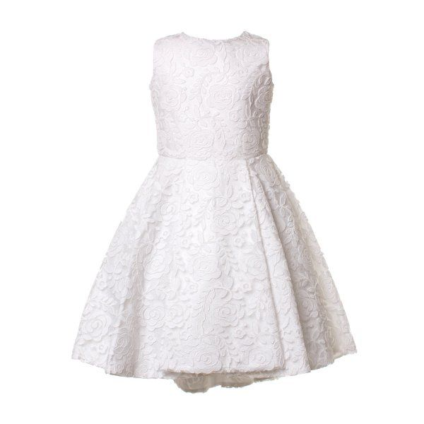 fa18ea708fa4 ELSY - ABITO CERIMONIA BIANCO BAMBINA TEEN Elegante abito bianco in pizzo  ricamato firmato Elsy Girl