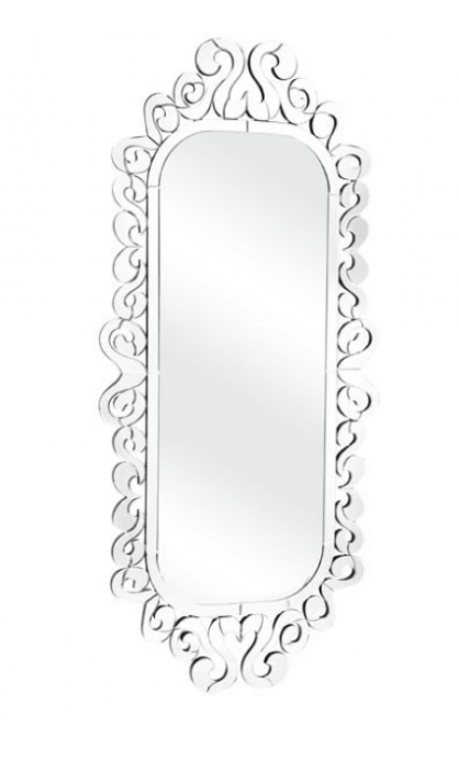 Elegant With Gently Flowing Curls Makes This Long Mirror A Great