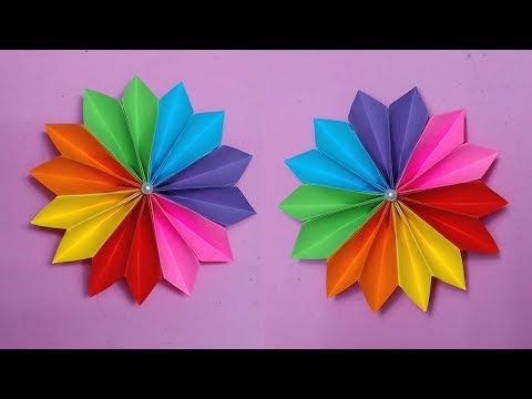 How to make easy flower with color paper making paper flowers step how to make easy flower with color paper making paper flowers step by step diy paper crafts youtube mightylinksfo