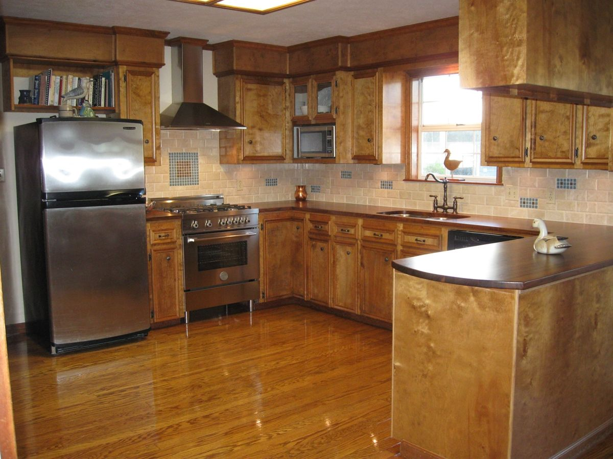 1950 s ranch kitchen remodel custom made walnut countertops for entire kitchen cheap kitchen on kitchen remodel ranch id=65543