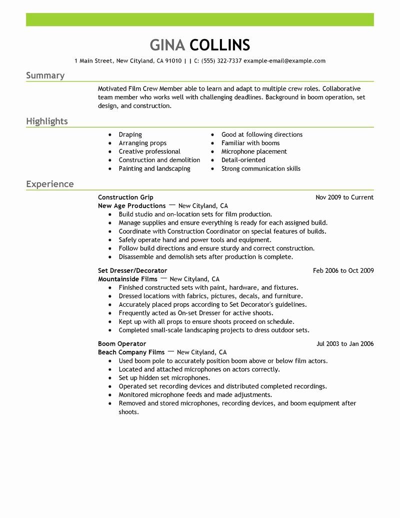 Amazon Delivery Driver Resume Beautiful Best Crew Resume Example In 2020 Job Resume Samples Medical Assistant Resume Resume