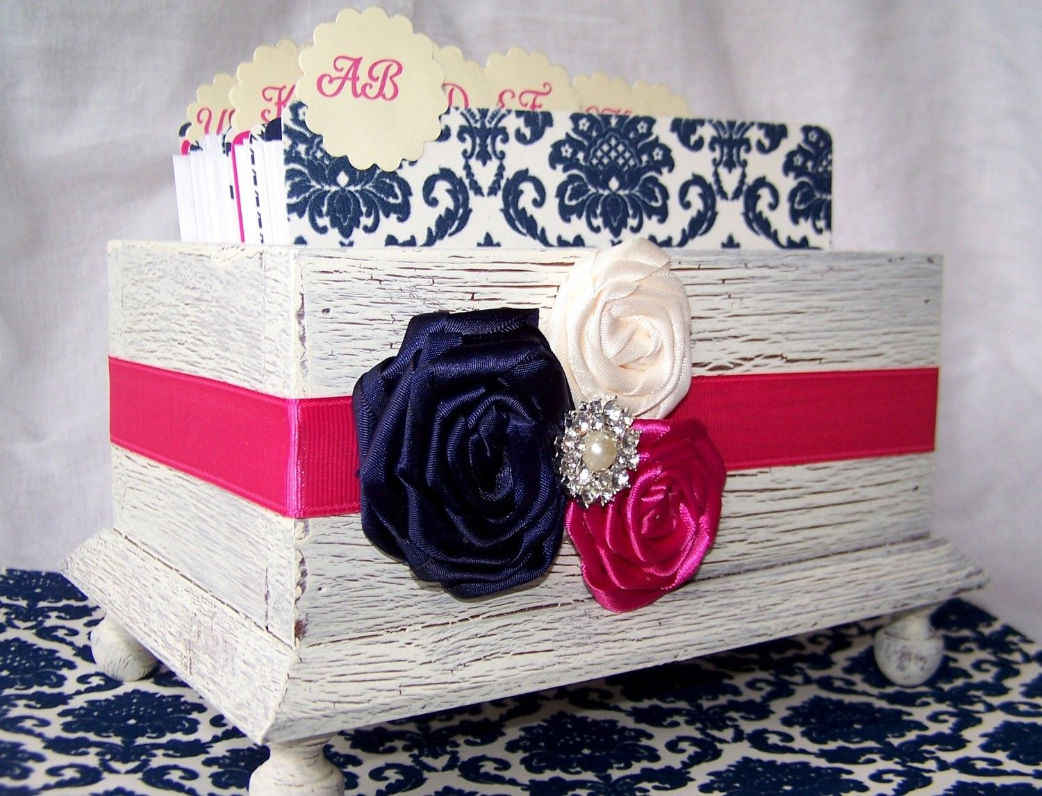 Shabby Chic Colors For 2015 : Modern chic wedding fuschia mint navy blue and hot pink ivory