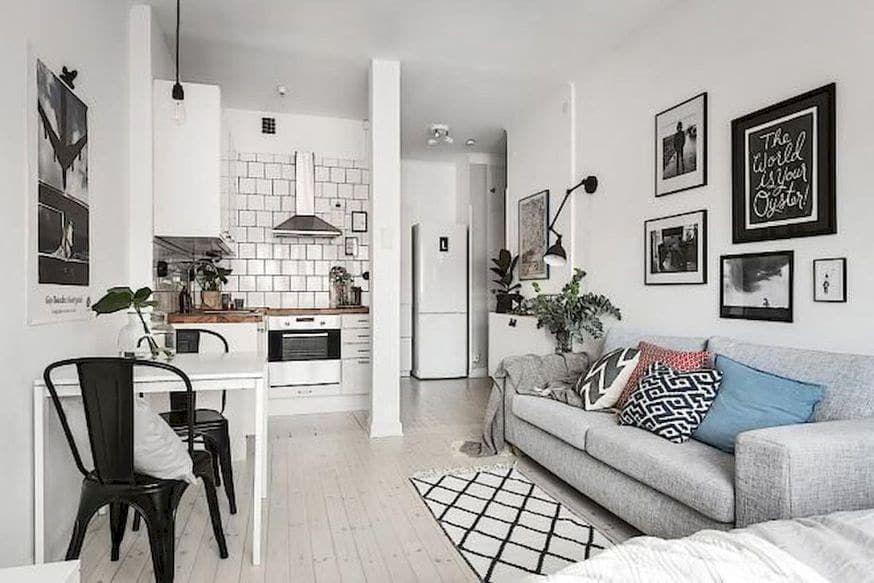 "interior for small space on Instagram: ""#smallspacesdesign #smallhouse #apartmentdesign #condodesign #interiordesign #interior #decoration #cleandesign #smallspace #smallapartment…"""