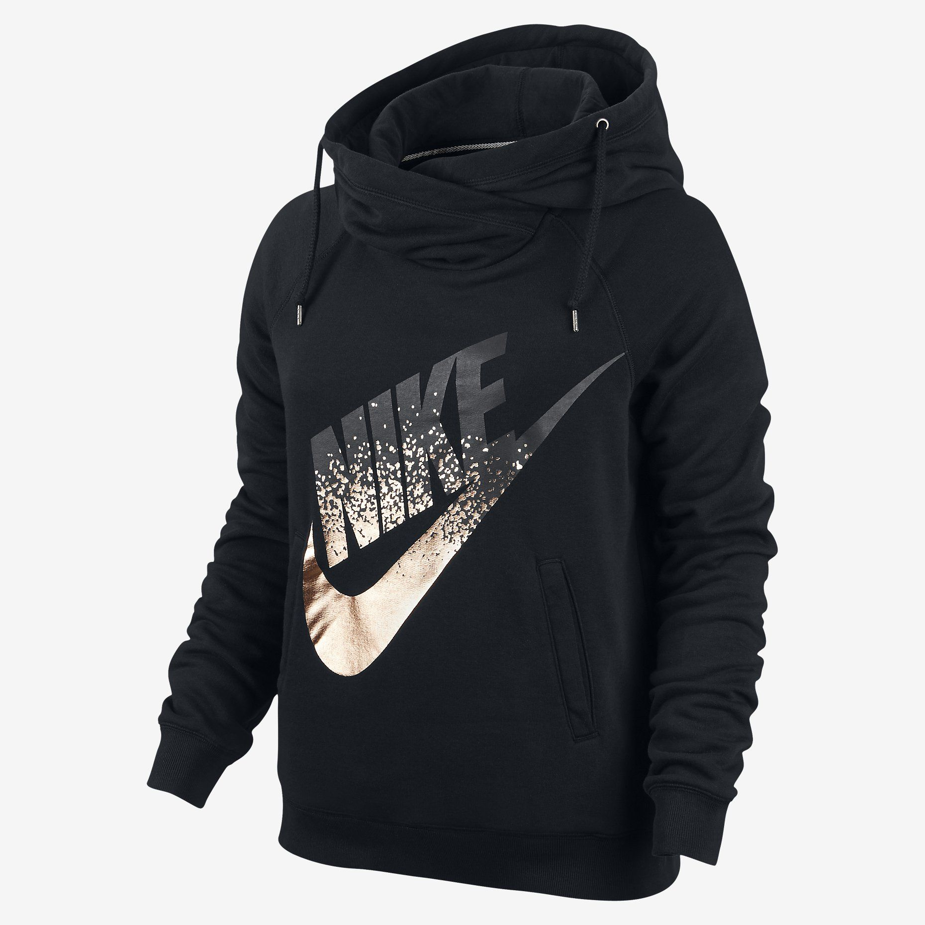 Nike Rally Metallic Funnel Neck Pullover Women s Hoodie. Nike.com  01cb3d62a