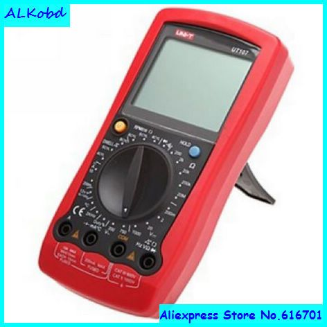 ALKobd Hand-held automotive multimeter UT107 Digital Automotive Tester Voltage Temp Multimeter UNI-T UT107 Digital Meter