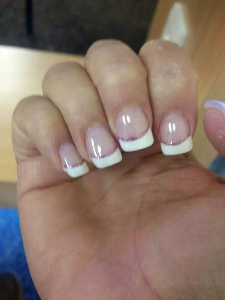 Tips with glitter strip