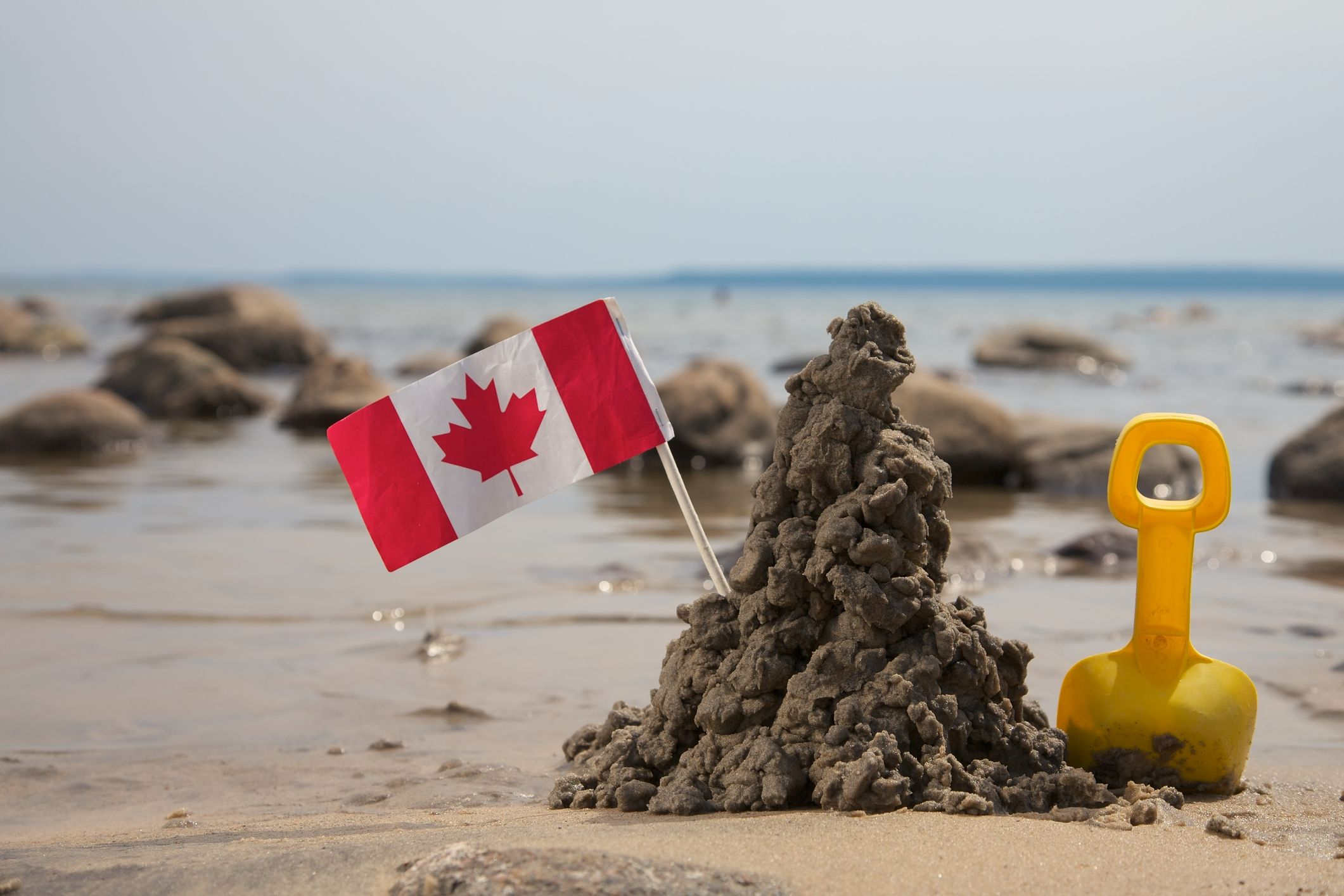 Canadian baby at the beach...