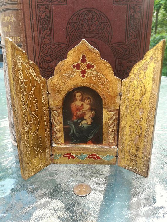 "Madonna /& Child Mary Jesus Holy Religious Gift 12/"" Florentine Resin Statue"