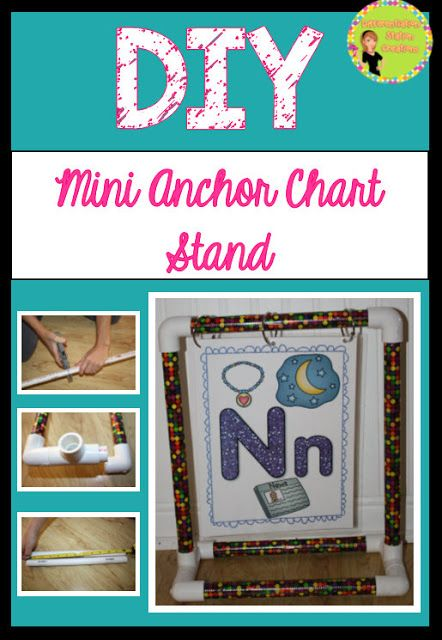 Mini Anchor Chart Stand Diy Differentiation Station Creations Anchor Charts Differentiation Station Creations Diy Classroom