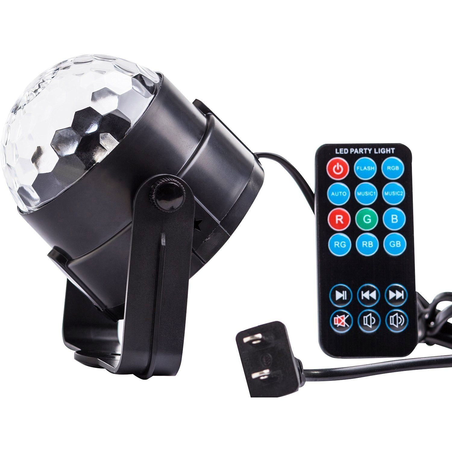 Holiday Decorations. Disco Ball Party Lights. LED Strobe Stage For ...