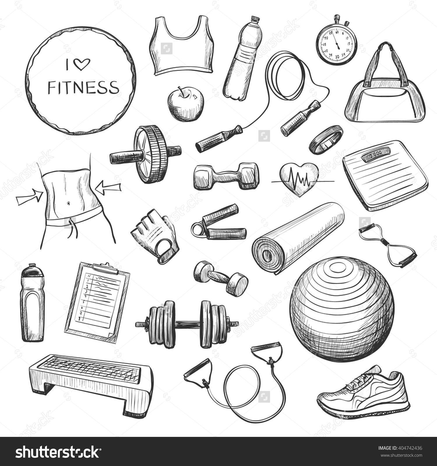 sports equipment coloring pages | Épinglé par Sonitta :) sur Drawing Sports