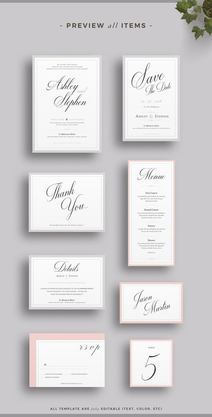 Wedding Invitation Suite | Invitation suite, Table numbers and Rsvp