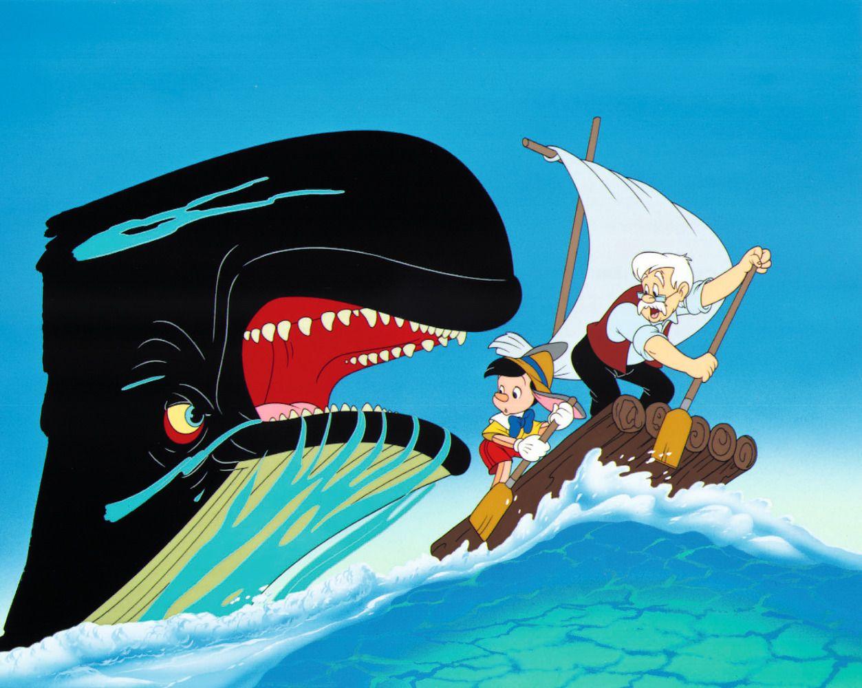 Pinocchio disney animation pinterest dessin anim - Baleine pinocchio ...