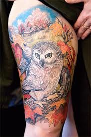 Znalezione Obrazy Dla Zapytania Tatuaz Na Udzie Tatoo Sowa