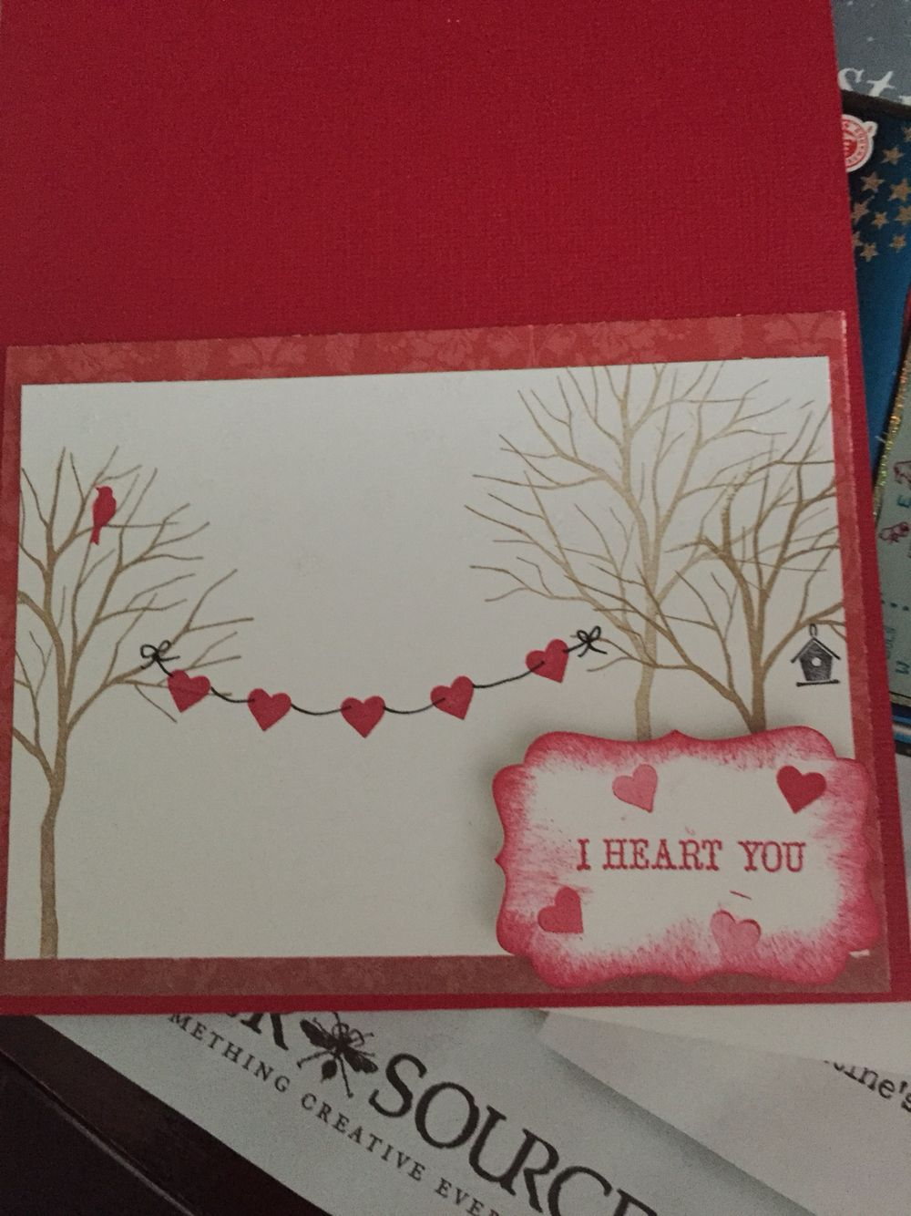 valentine's card stampin up  valentines cards stampin up