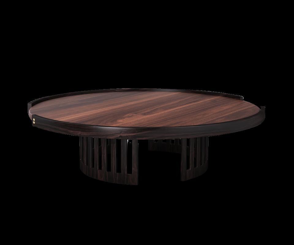 Richard Center Table has a stately yet elegant round ...