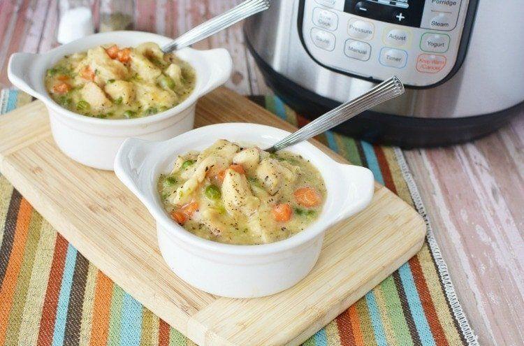 instant pot chicken  dumplings  recipe  instant pot