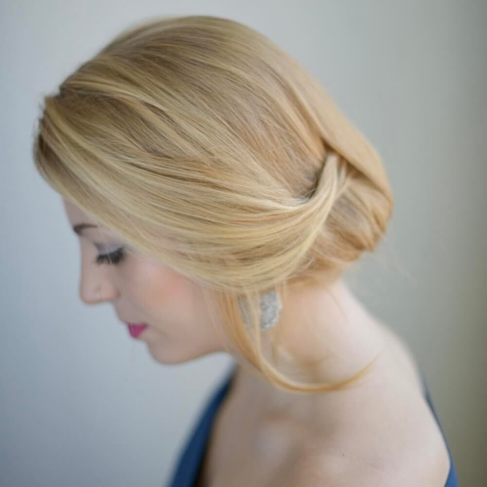 Simple Elegance hairstyle  Chignon hair, Hair styles, Pretty