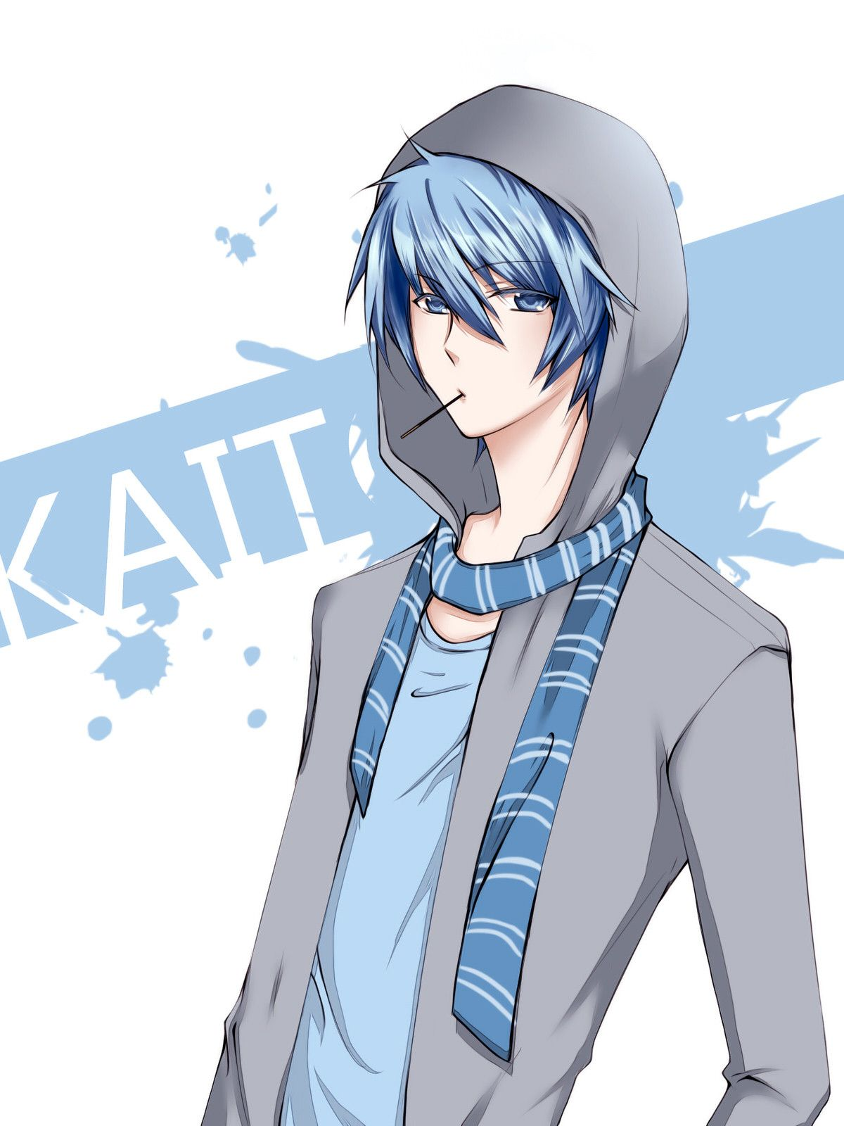 Anime Boy Standing Alone Widescreen 2 Vocaloid Kaito Kaito Shion Vocaloid
