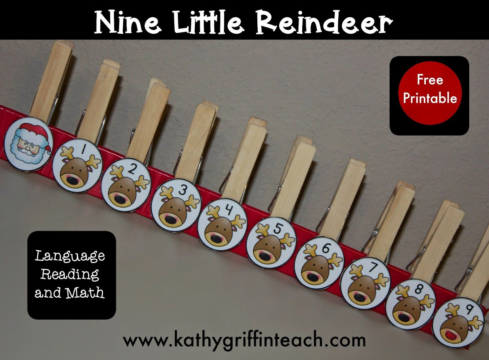 Christmas Reindeer Poem And Fine Motor Activity For