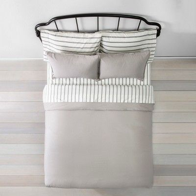 Twin Duvet Cover Set Linen Jet Gray Hearth Hand With Magnolia