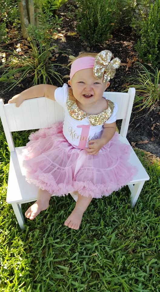 60f10d0e3 girl first birthday outfit gold and pink pink by PoshPeanutKids ...