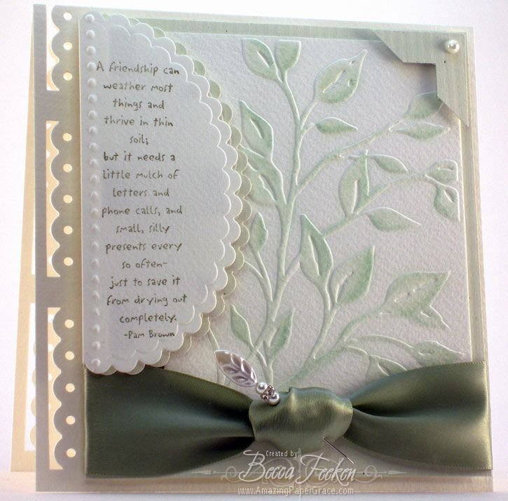 Card Making Ideas With Embossing Folders Part - 44: Leafy Branch U2013 New Cuttlebug Embossing Folder. Spellbinders CardsCuttlebug  ...
