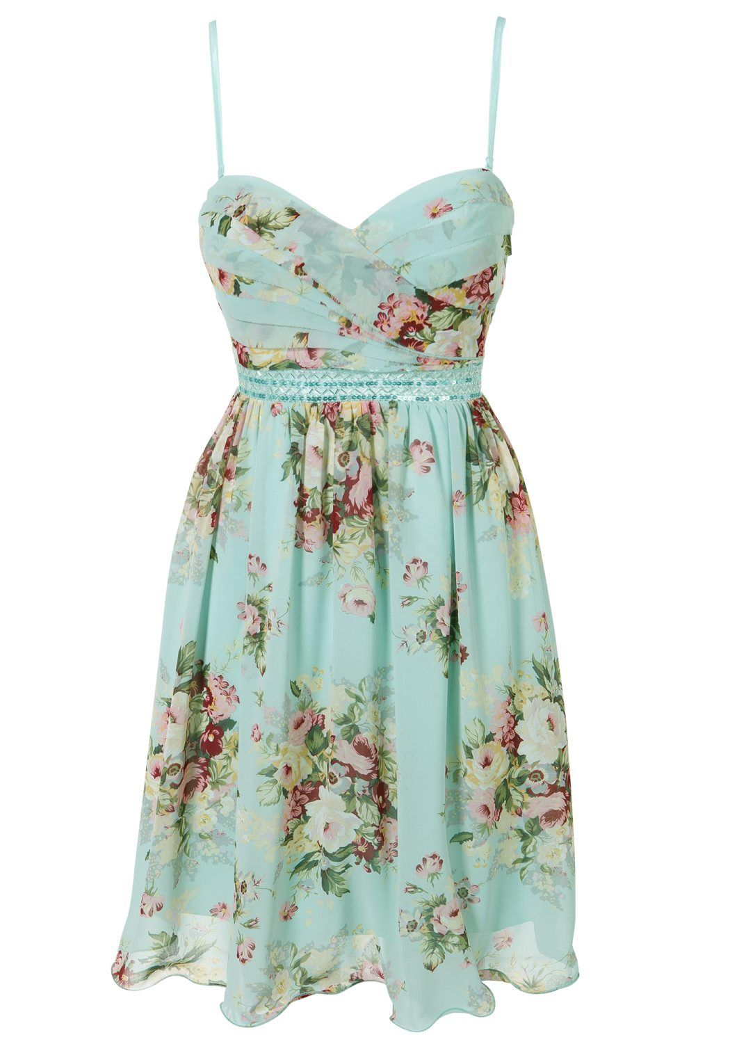 Clothing at Tesco | Ice Blossom Pastel floral dress > dresses ...