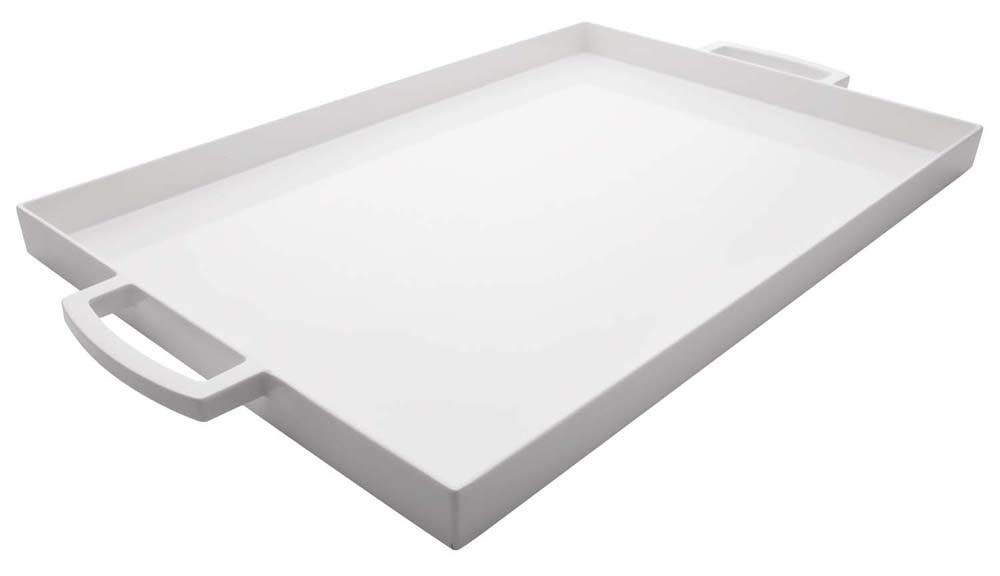 Amazon.com: Zak Designs 17 by 11-1/2-Inch Large Rectangular Tray, White: Kitchen & Dining