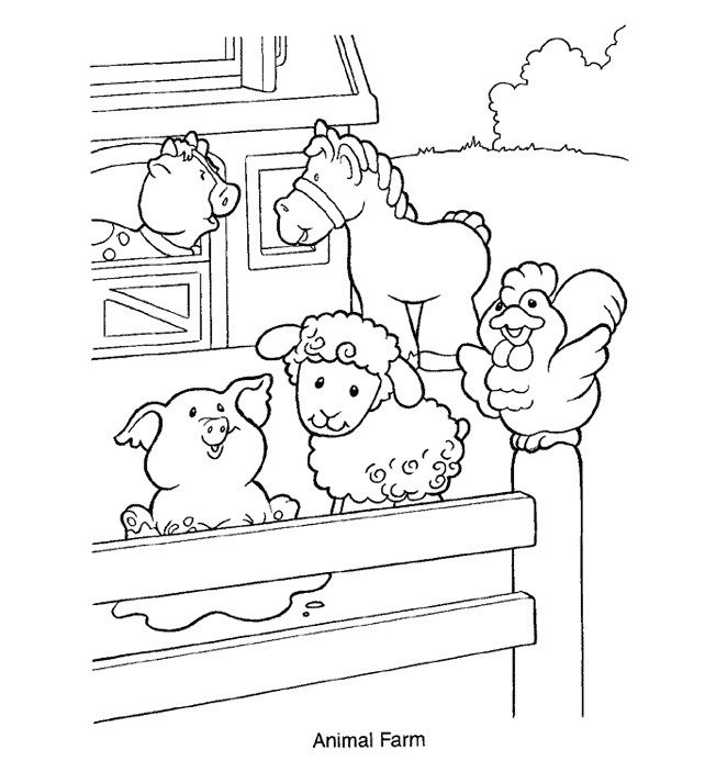 Farm Animal Coloring Page | Bits & Bobs | Pinterest
