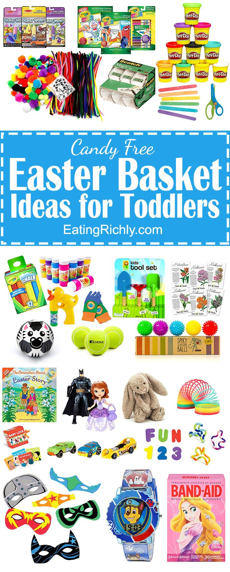 No candy easter basket ideas for toddlers basket ideas easter no candy easter basket ideas for toddlers negle Choice Image