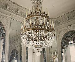 chandeliers in dove rooms...