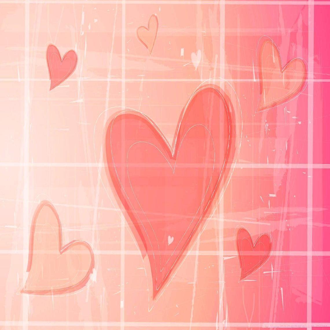 PINK HEARTS ART