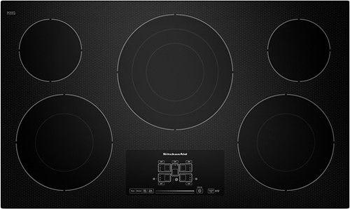 Kitchenaid 36 Built In Electric Cooktop Black Larger Front Electric Cooktop Stainless Steel Cooktop Cooktop