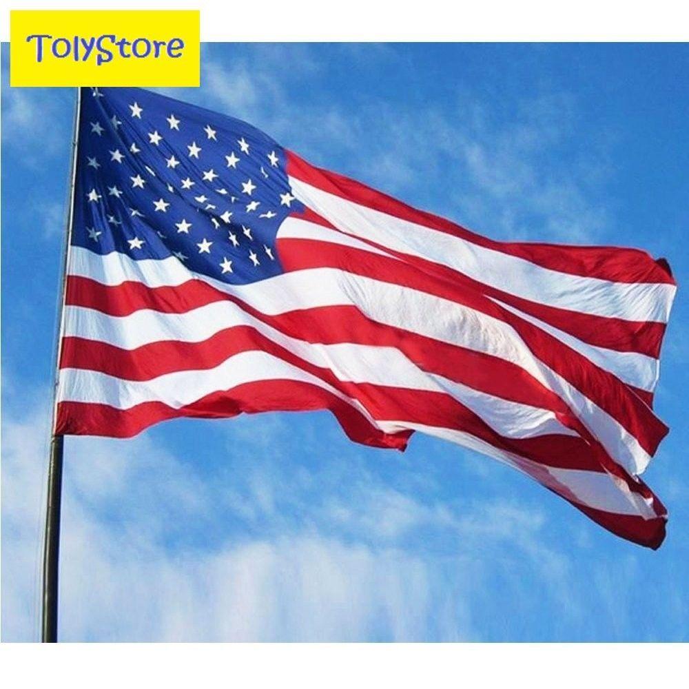 3'x 5' FT American Flag U.S.A United States Stripes Stars