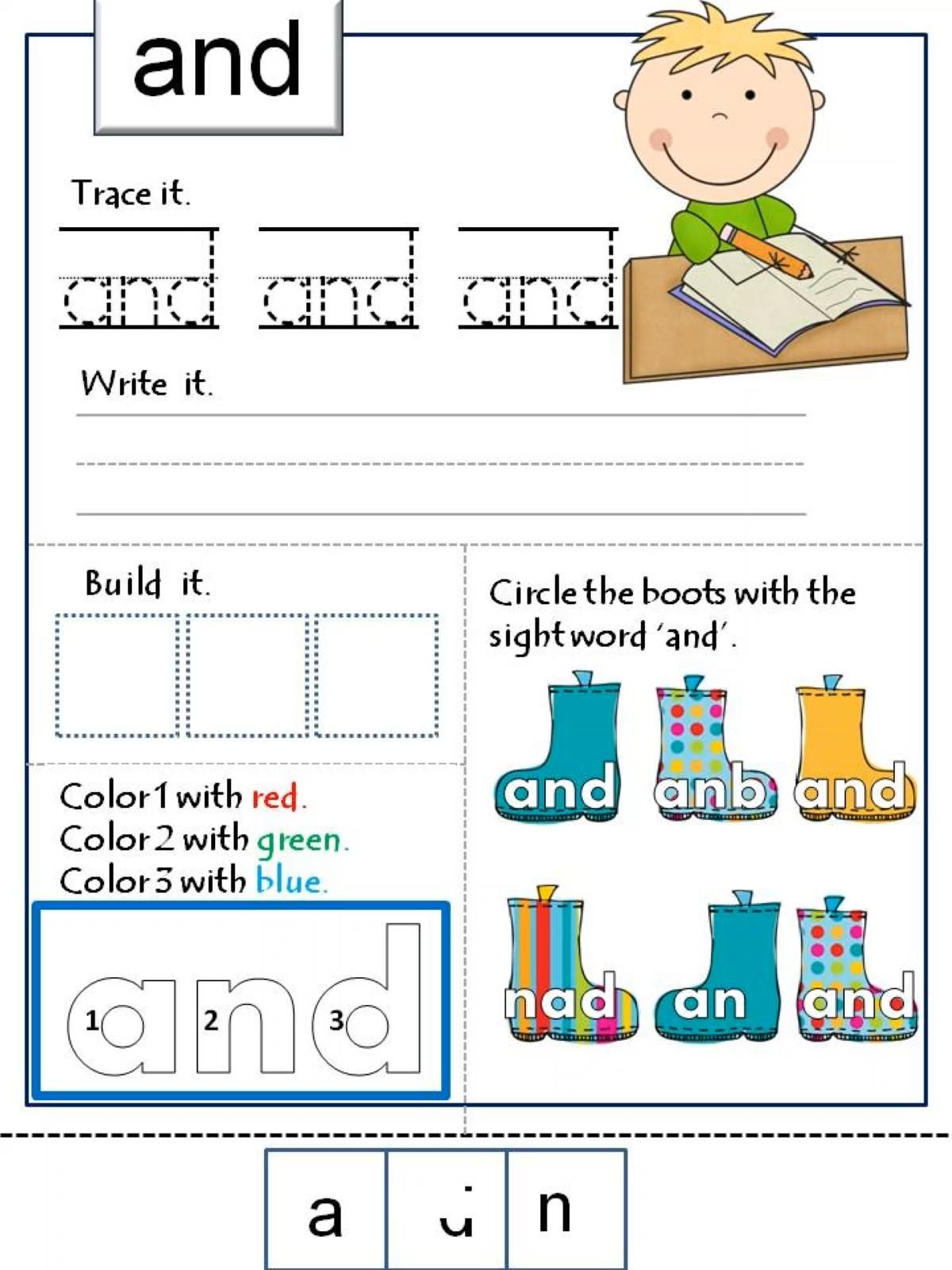 Sight Word Activities For Kindergarten Preschool