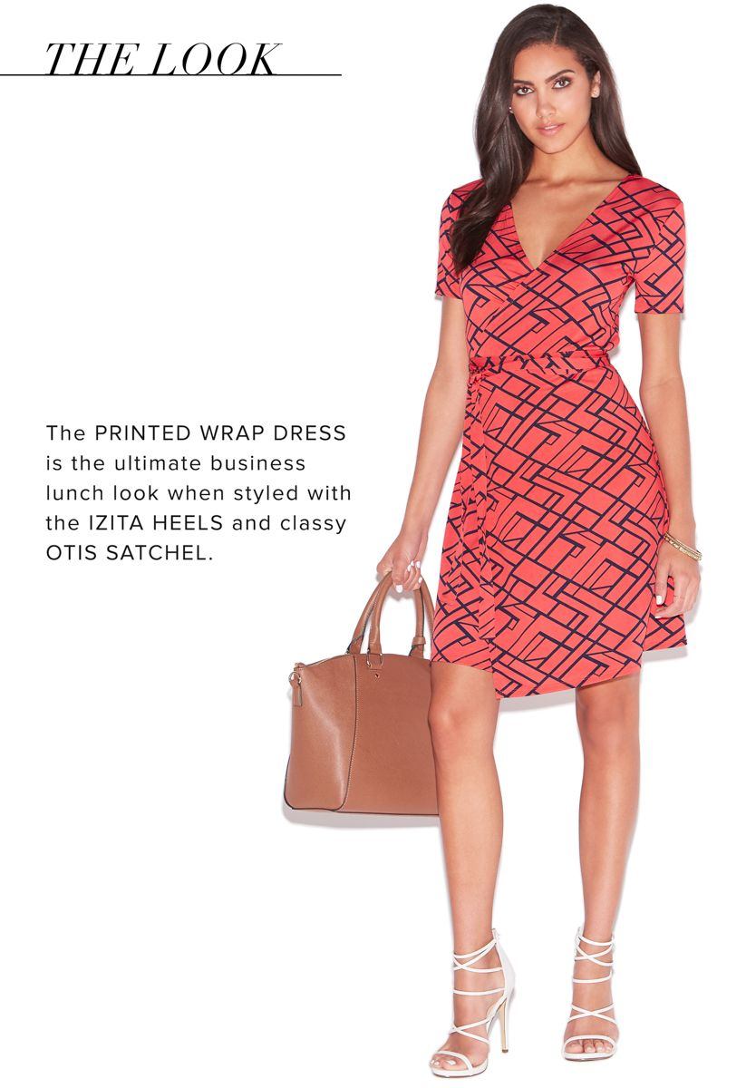 Printed wrap dress sexy womenswear pinterest office meeting