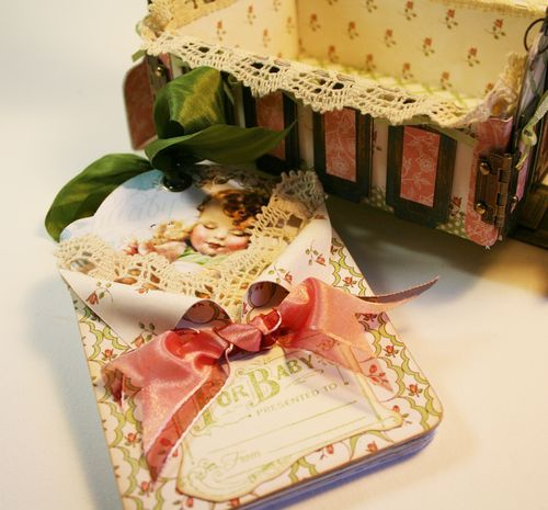 Beautiful Sleeping Baby Tag & Cradle  By Laura Denison At Graphic 45