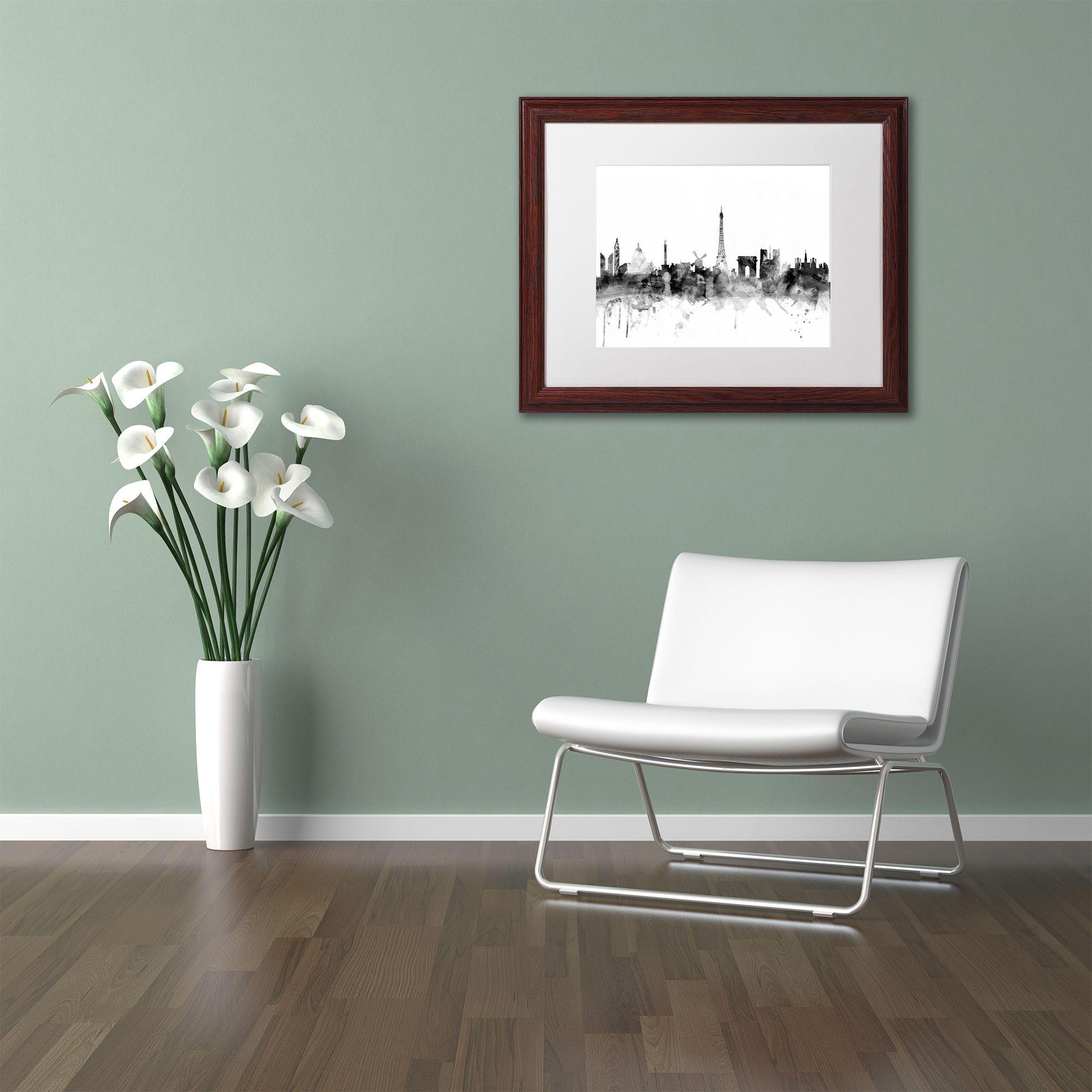 Michael tompsett uparis skyline buwu matted framed art products