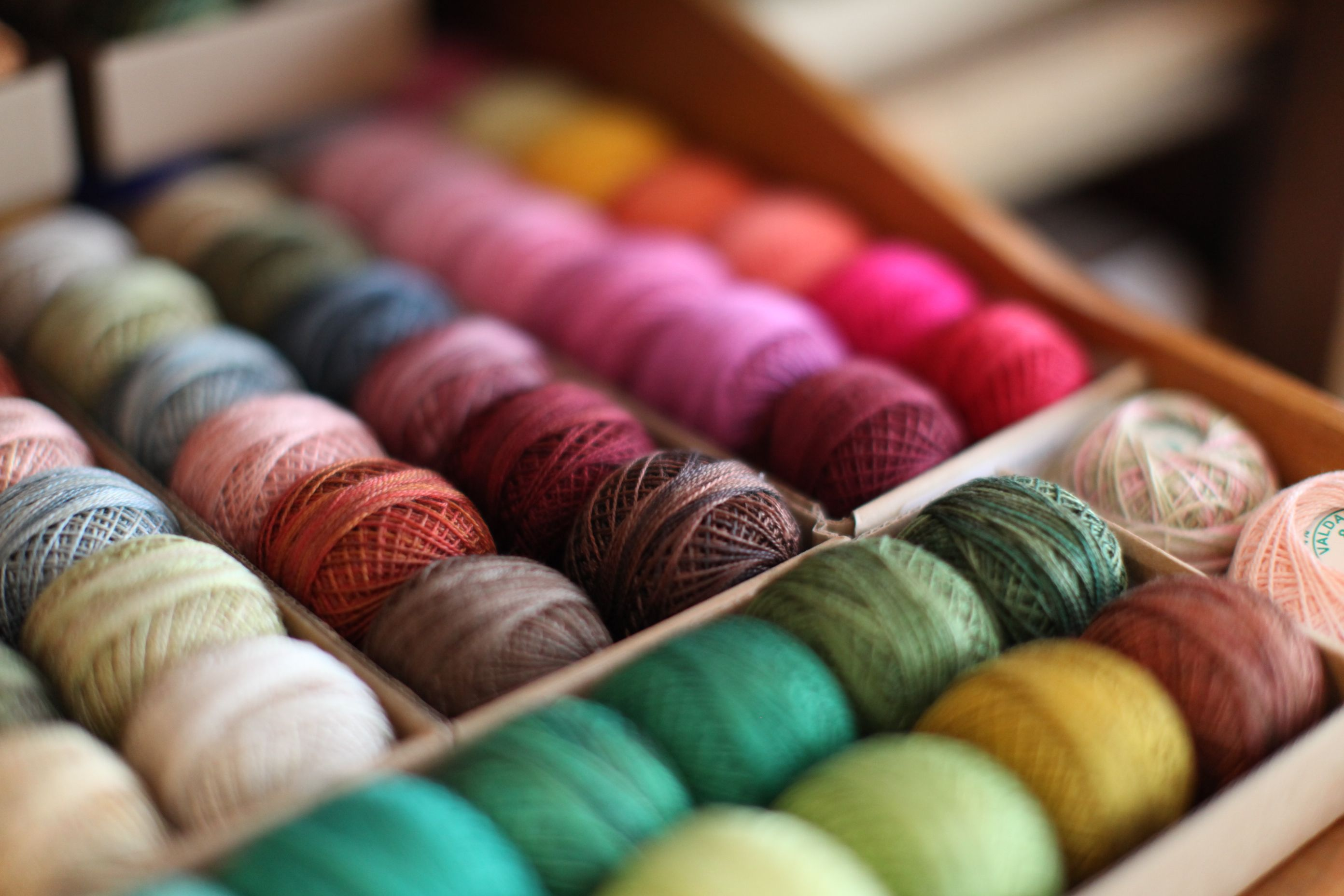 thread--look at all those colours!!