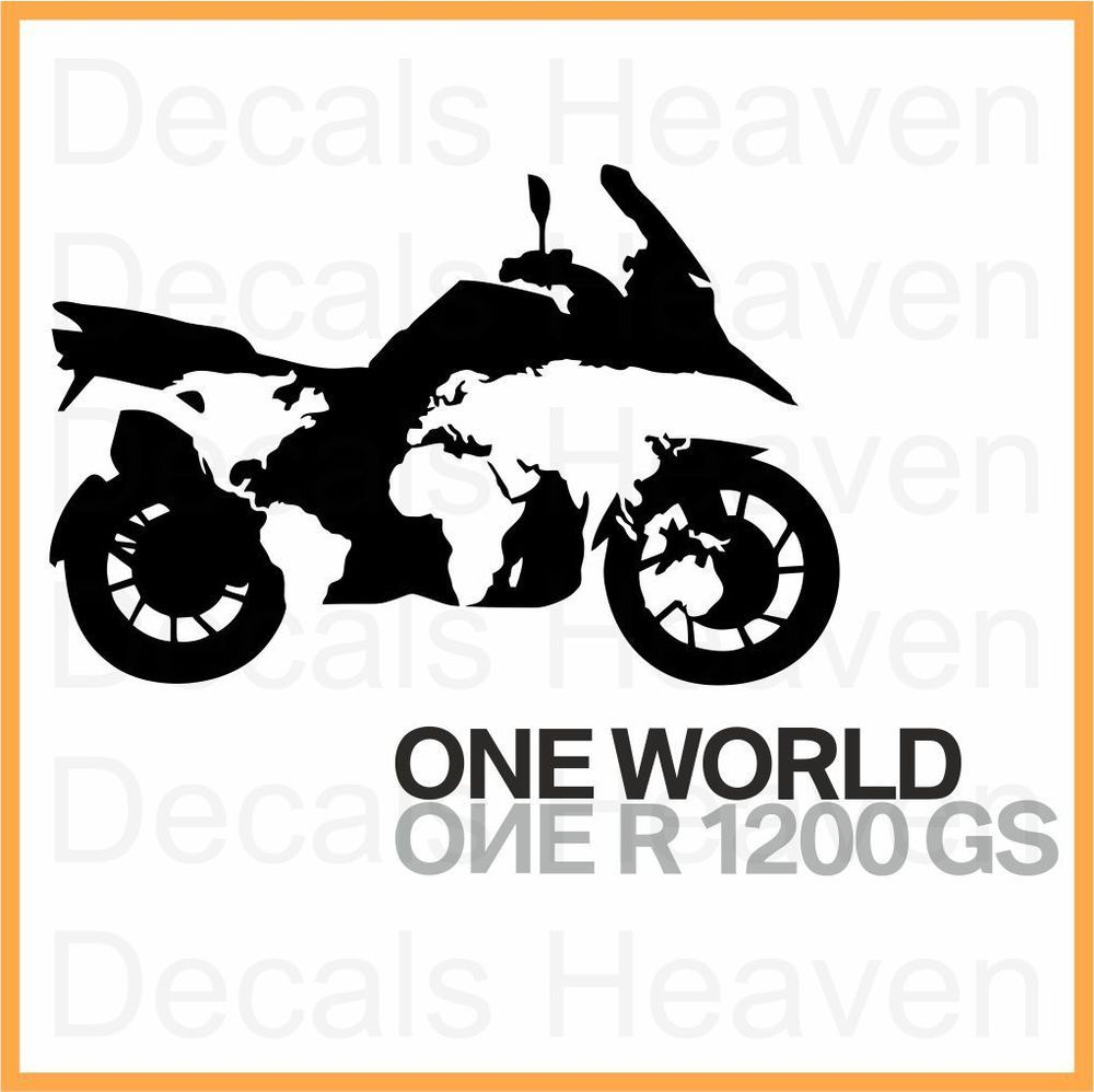 bmw one world one r1200gs logo sticker car bumper window
