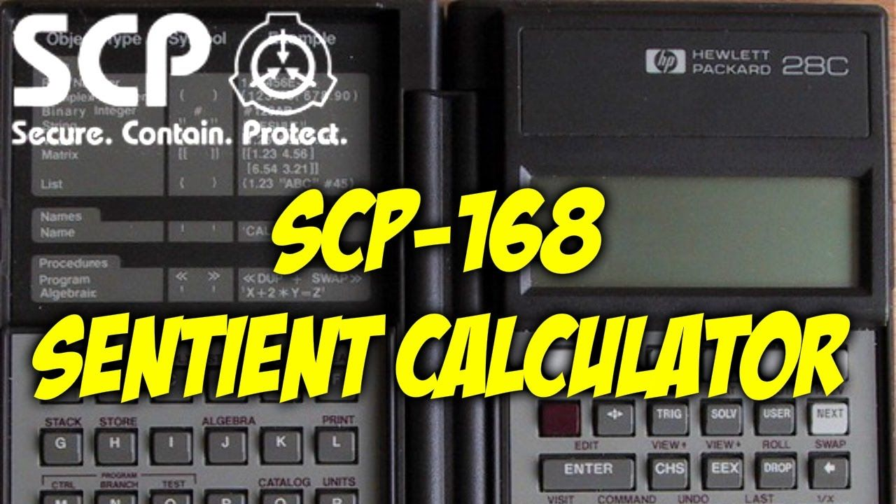 SCP-168 Sentient Calculator   object class safe   electronic