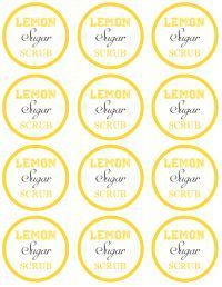 graphic about Printable Sugar Scrub Labels named Do it yourself Presents Lemon Sugar Scrub within just a Jar with Totally free Printable