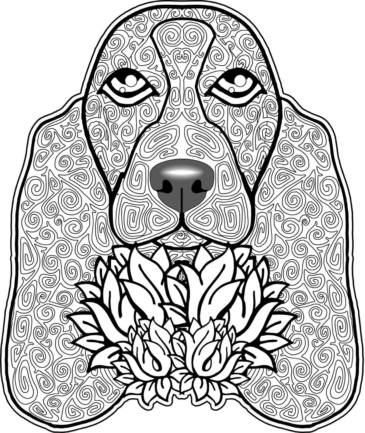 Pin By Carol Miller On Basset Beagle Love Free Adult Coloring